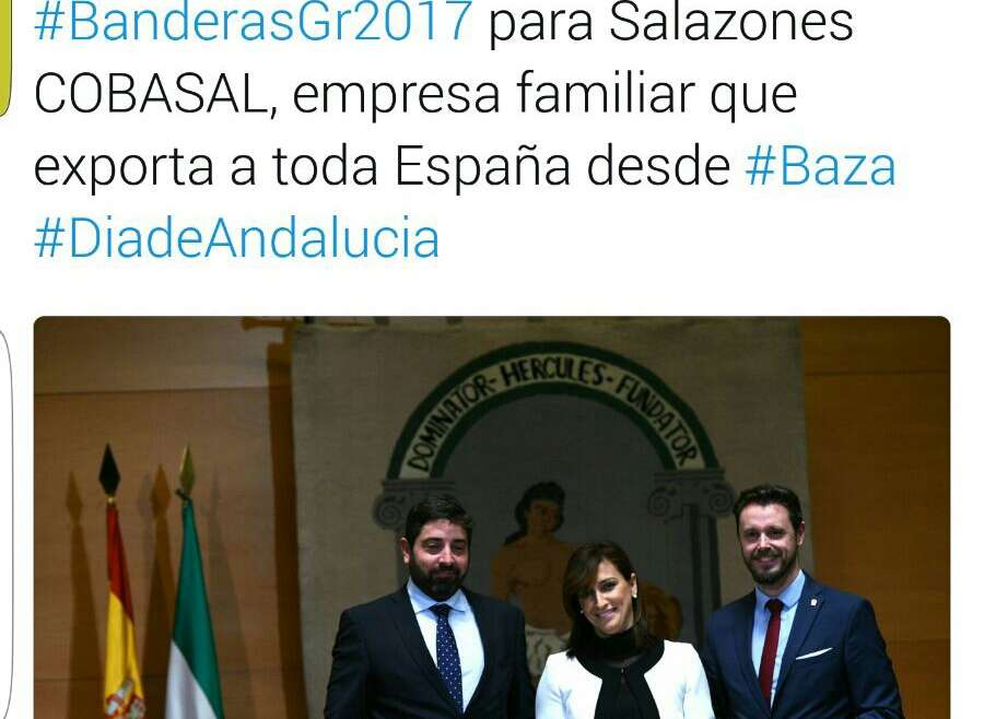 Cobasal recibe el premio Bandera de Andalucía
